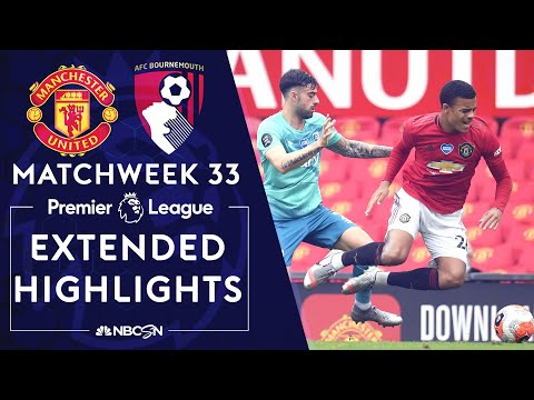 Manchester United v. Bournemouth | PREMIER LEAGUE HIGHLIGHTS | 7/4/2020 | NBC Sports