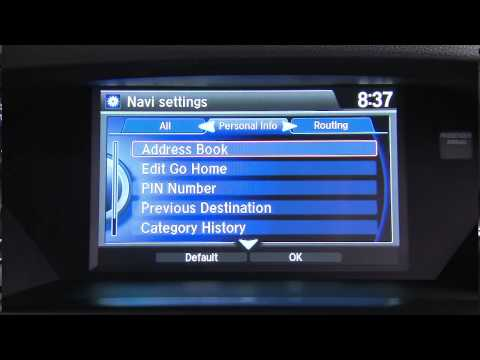 Acura – 2015 MDX – On Demand Multi-Use Display™ – Settings Menu