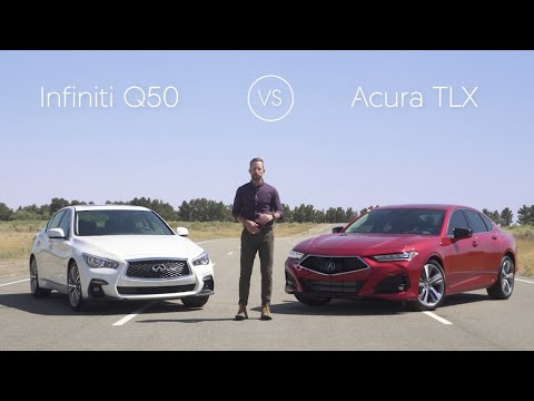 2021 Infiniti Q50 Review & Comparison vs. The 2021 Acura TLX