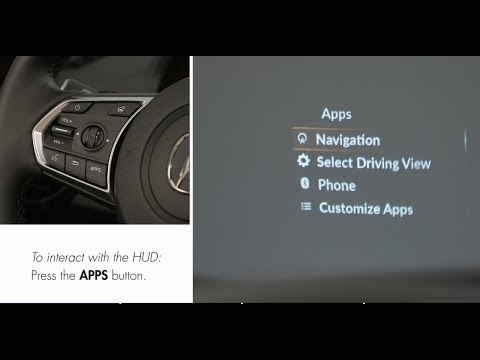 Using Head-Up Display on RDX with Advance Package
