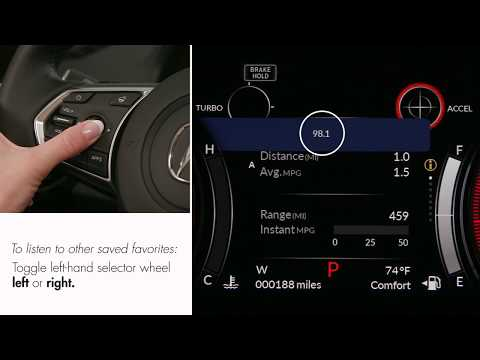 How to use the audio system with the steering wheel controls